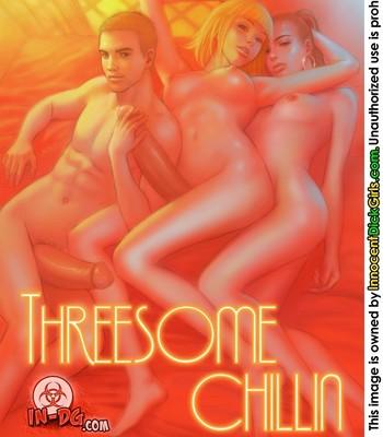 Porn Comics - Threesome Chillin Sex Comic