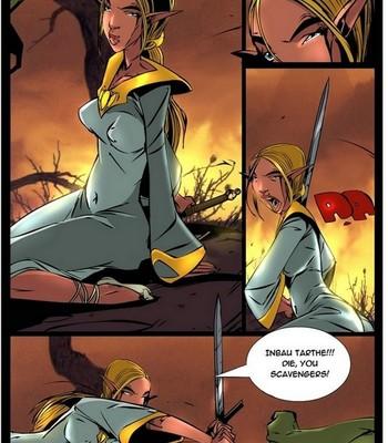 Elf VS Orc comic porn sex 003