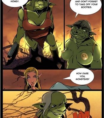 Elf VS Orc comic porn sex 005