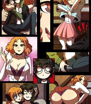 Joker x Futaba x Haru comic porn sex 004