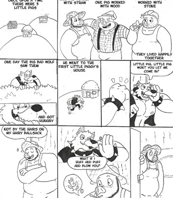 Porn Comics - The Three Pigs And The Big Bad Wolf