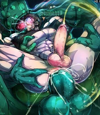 Slime Monster Fucks Chris Redfield comic porn sex 004