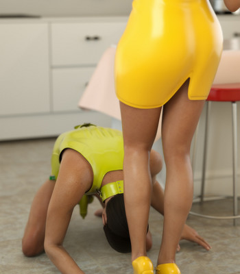 Lady In Yellow comic porn sex 008