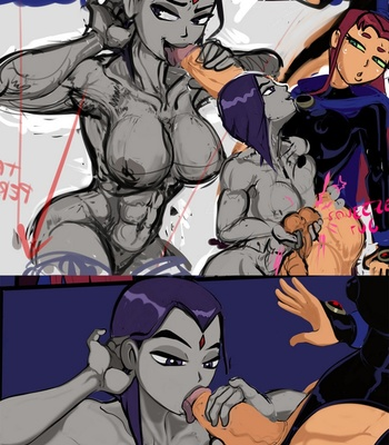 Starfire In Heat comic porn sex 010