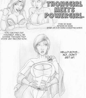 Porn Comics - Thong Girl Meets Power Girl Sex Comic