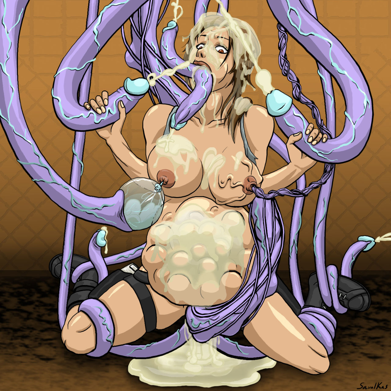 Tentacle monster hentai comics